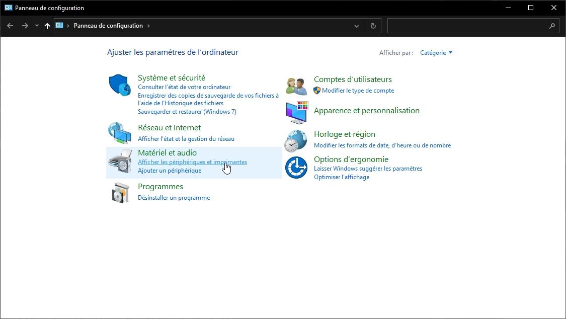 config Windows 10 © Capture d'écran
