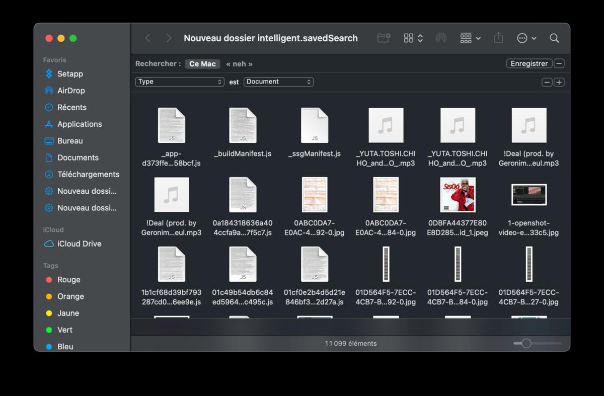 Smart folder mac