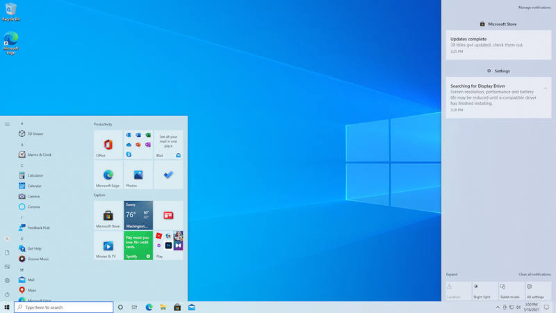 Windows 10 © Microsoft
