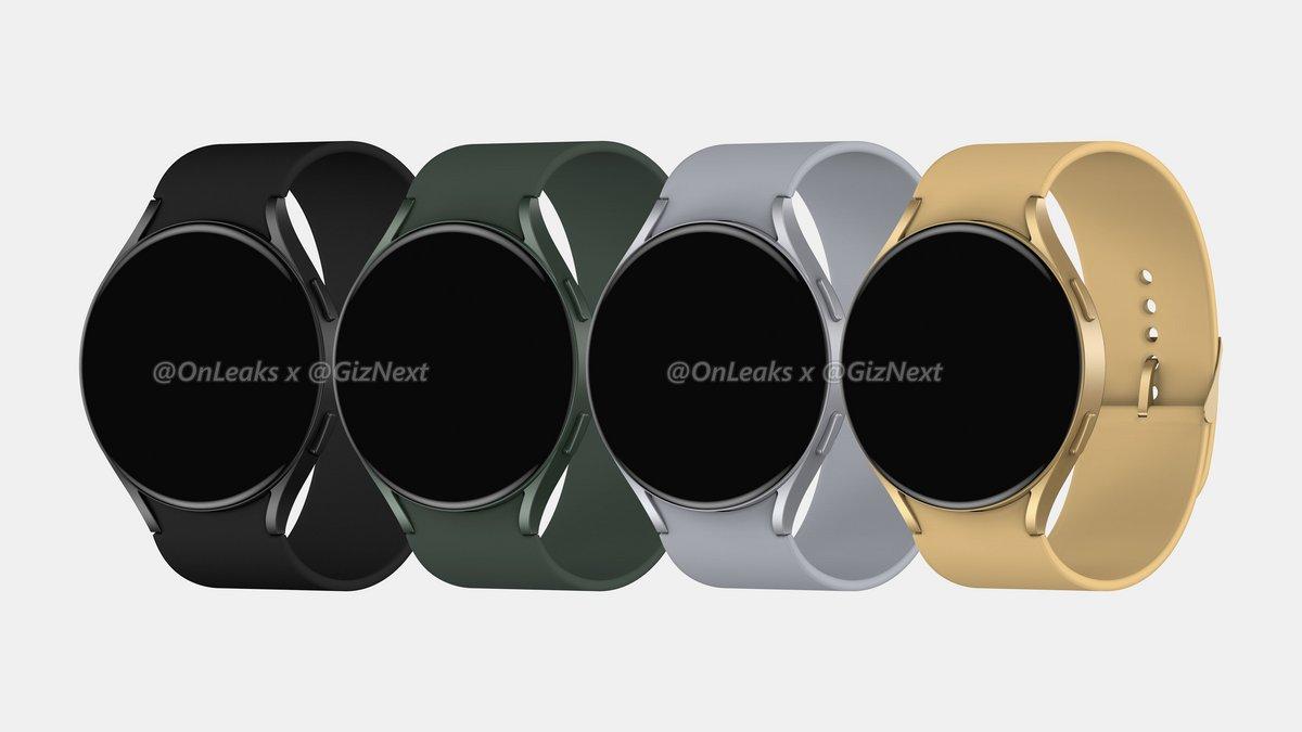Galaxy Watch Active 4 © OnLeaks / Giznext