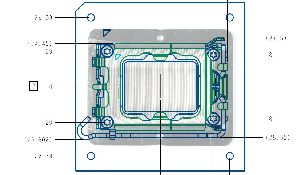 Intel socket LGA 1700 - LGA 1800 © WCCFTech