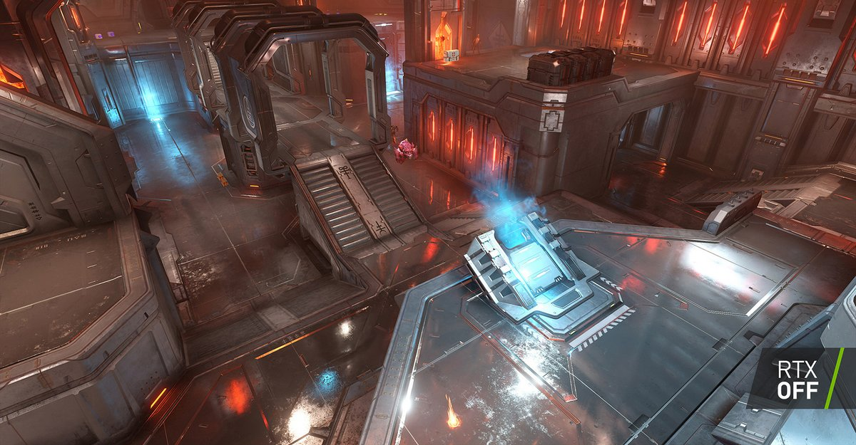 DOOM Eternal Décor RTX OFF © id Software / NVIDIA