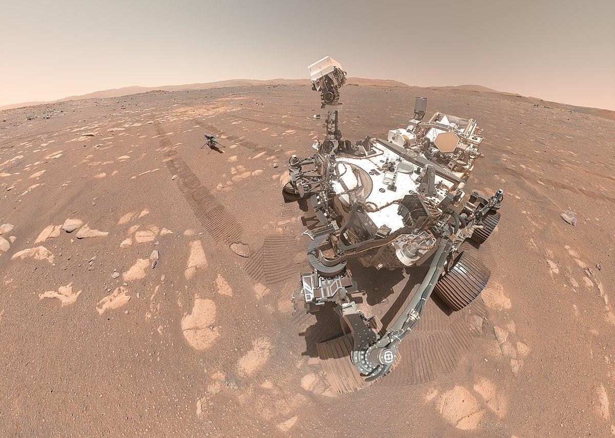 Perseverance selfie avec Ingenuity 3 © NASA/JPL-Caltech