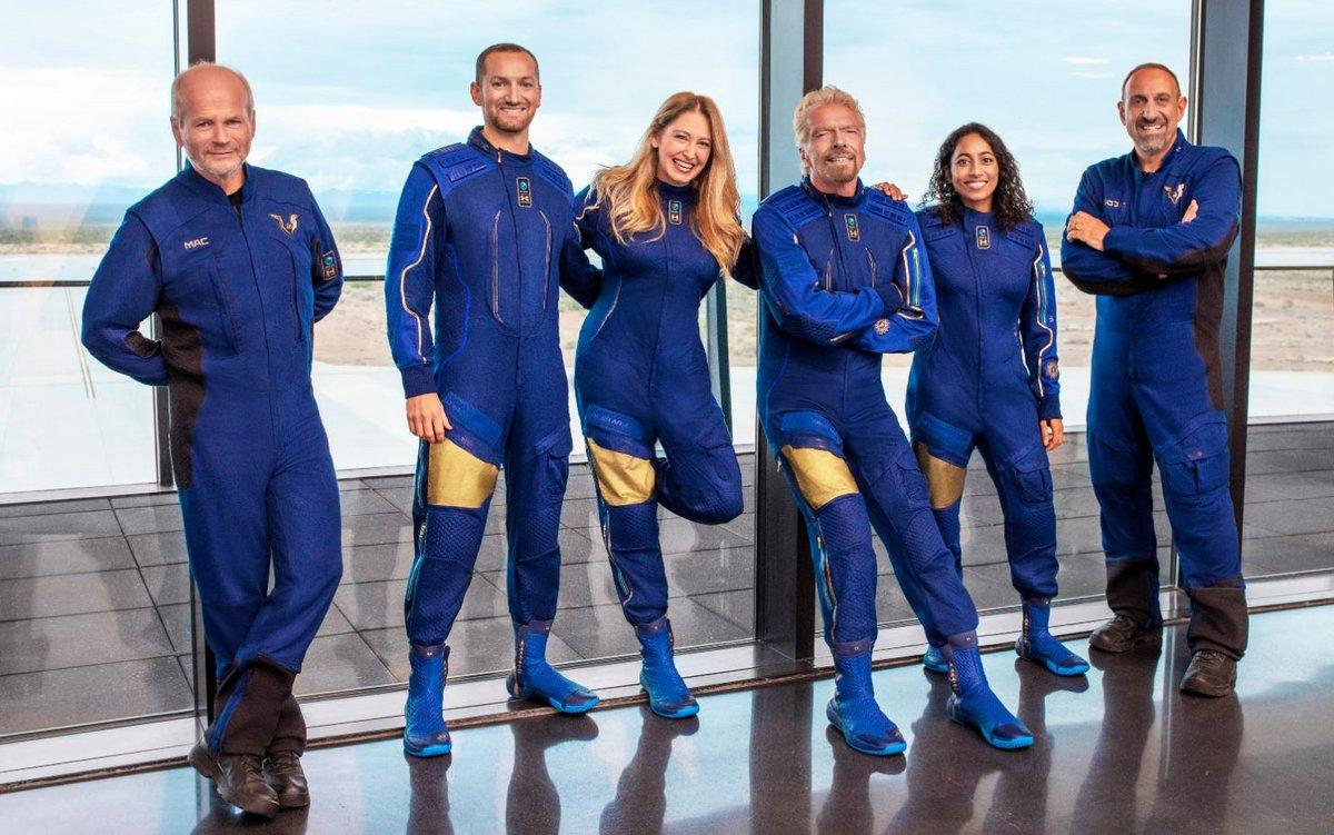 VSS Unity équipage Branson © Virgin Galactic