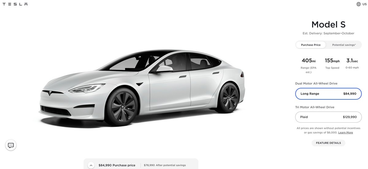 Tesla hausse px © electrek