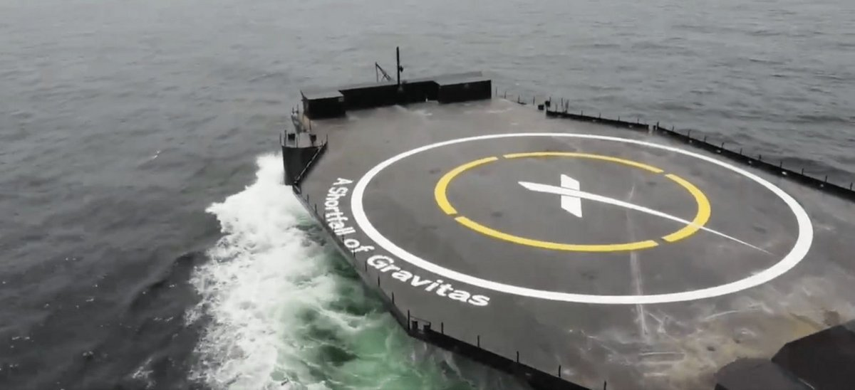 Barge A Shortfall of Gravitas SpaceX © SpaceX