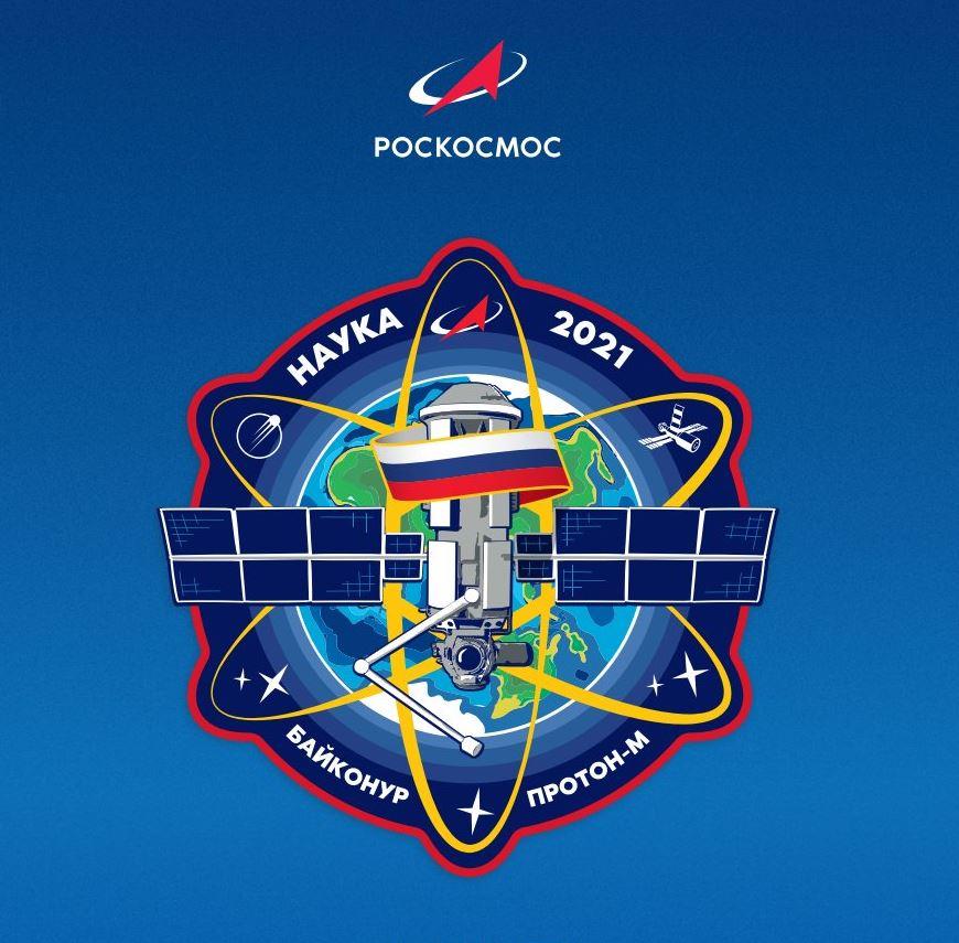 MLM Nauka lancement écusson © Roscosmos