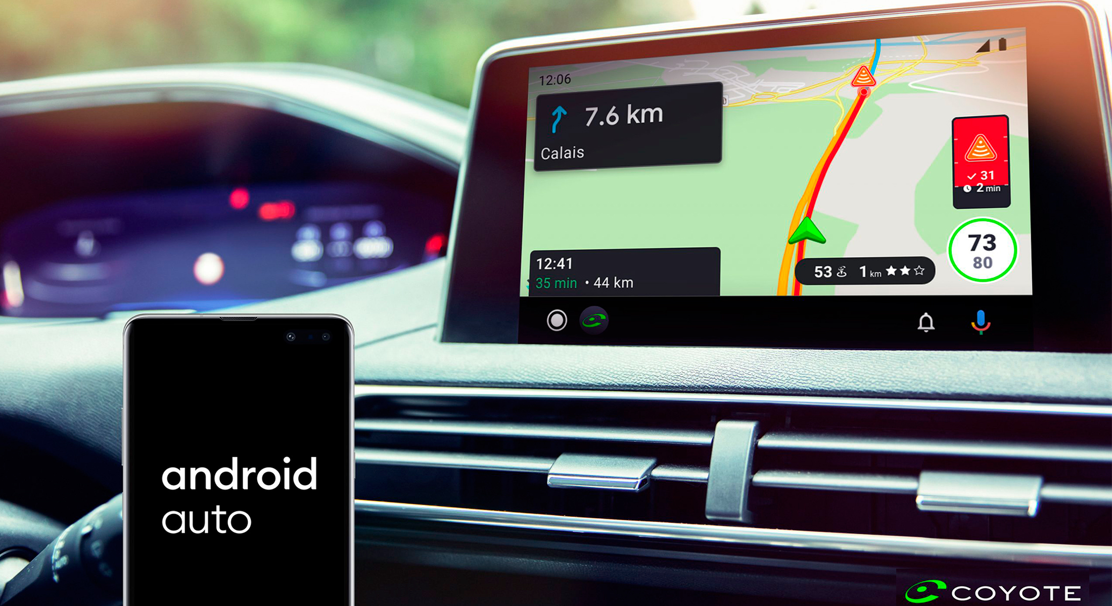 On a testé Coyote sur Android Auto : faut-il y adhérer avant de prendre la route ?