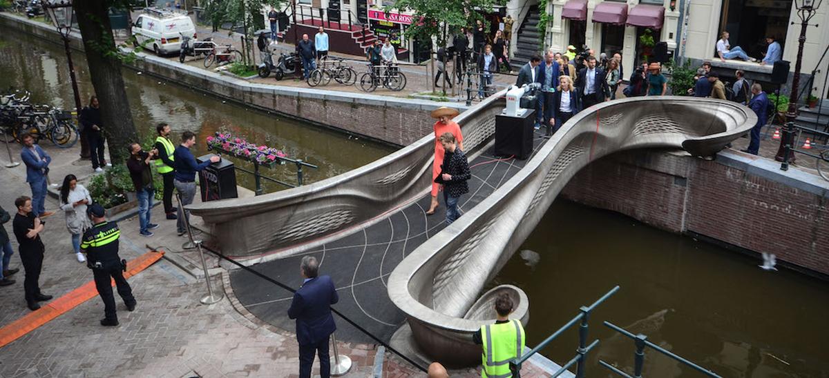 Pont en acier 3D Amsterdam © MX3D
