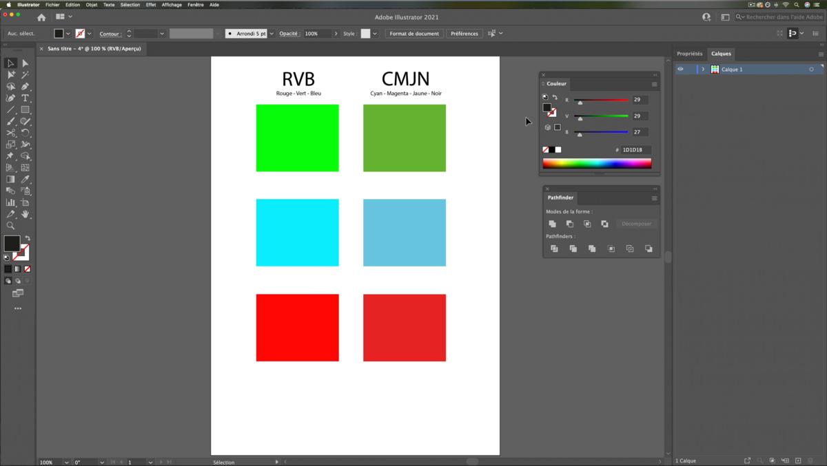 Différents modes colorimétriques © Romain Duclos