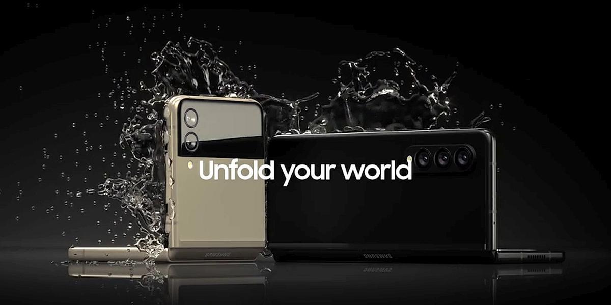 Samsung Z Fold 3 et Z Flip 3 © Samsung (via Evleaks)