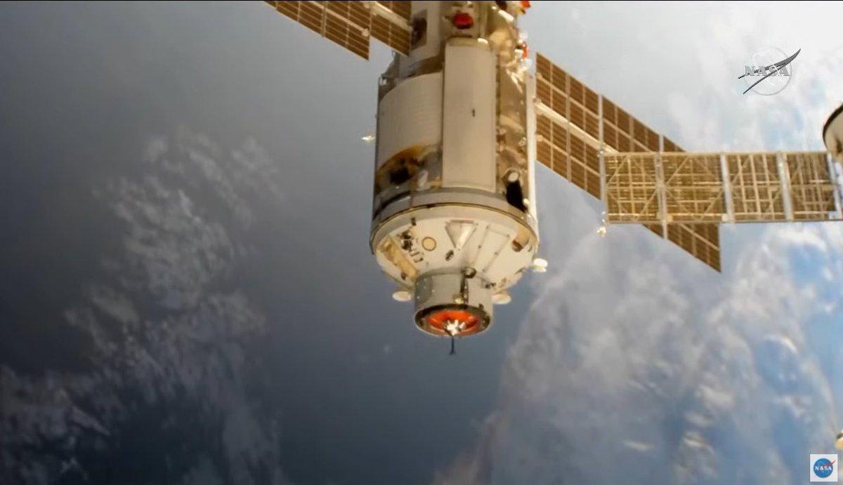 MLM Nauka arrivée ISS © NASA TV