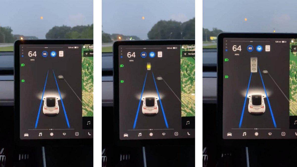 Autopilot Tesla Lune