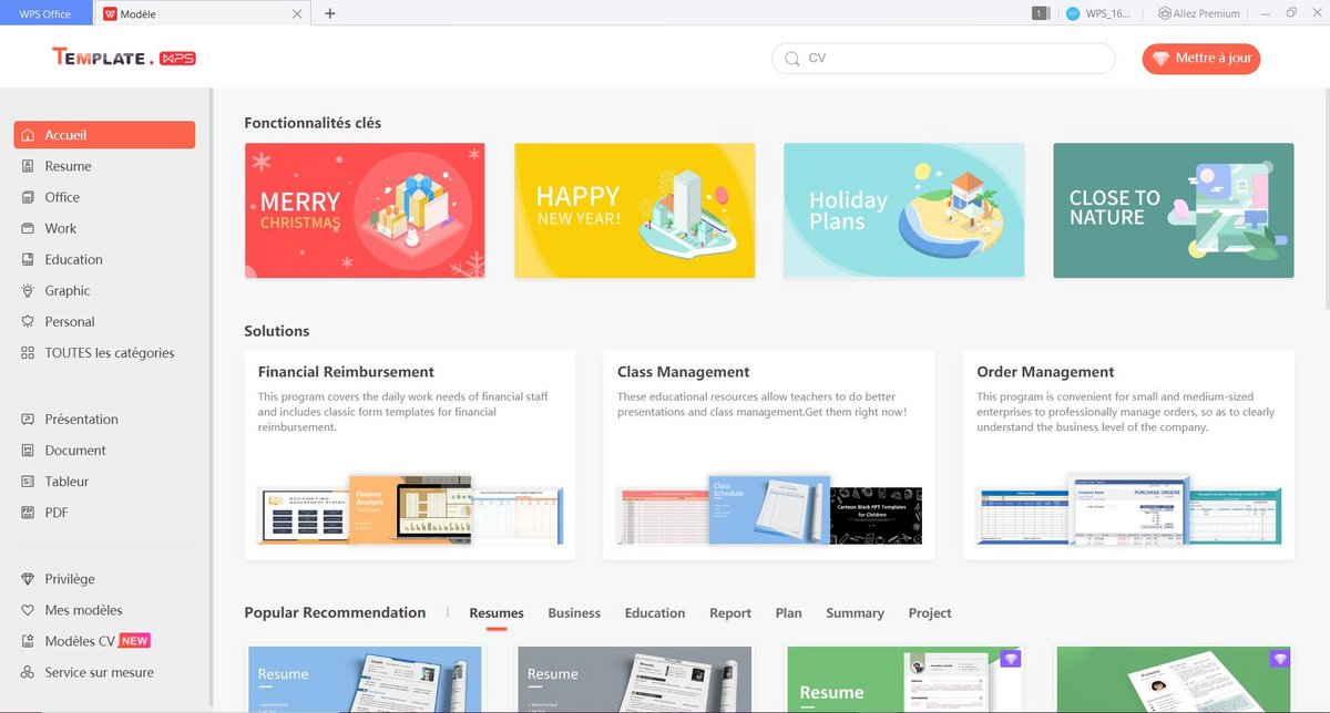 wps office templates