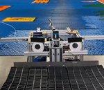 Un robot crée une superbe fresque Super Mario en domino en 24 heures