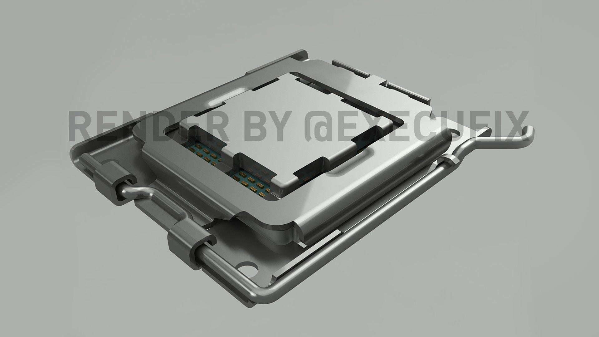 AM5 : diffusion de rendus du nouveau socket d'AMD