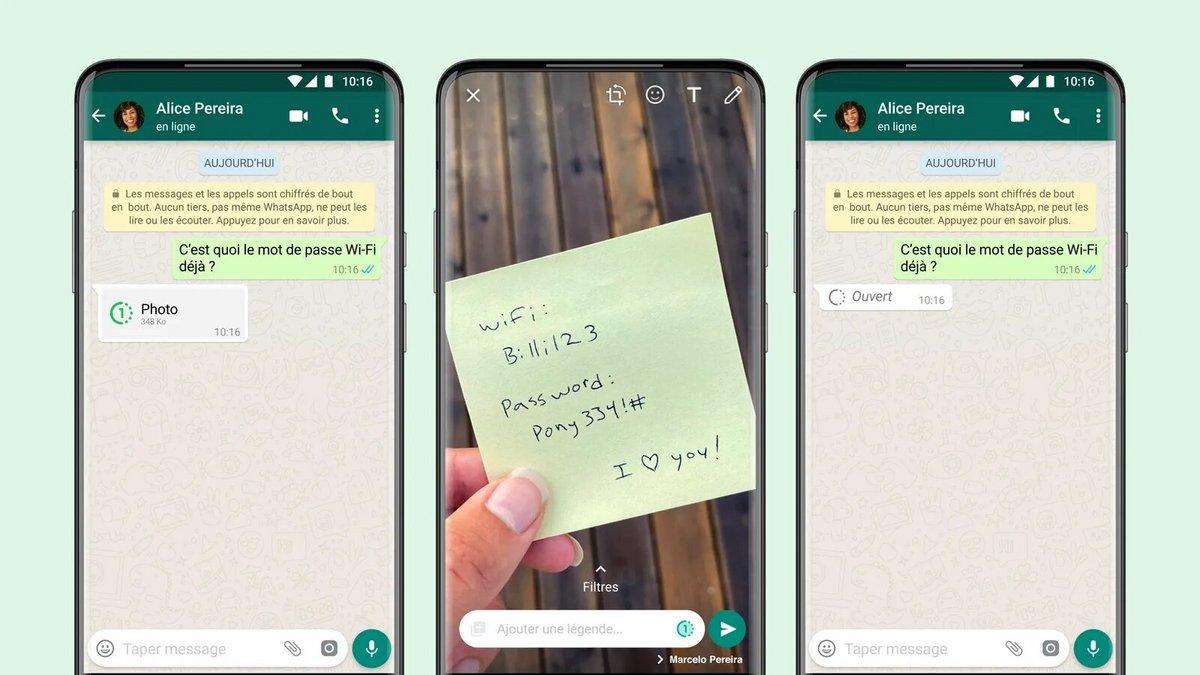 WhatsApp messages éphémères © Whatsapp
