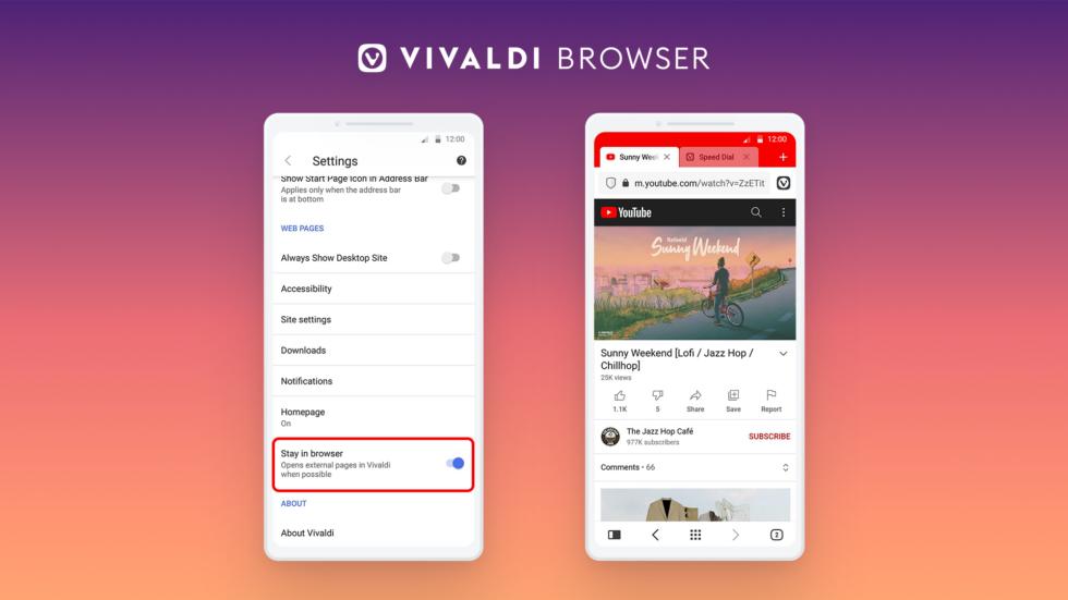 Vivaldi Android 4.1 © Vivaldi