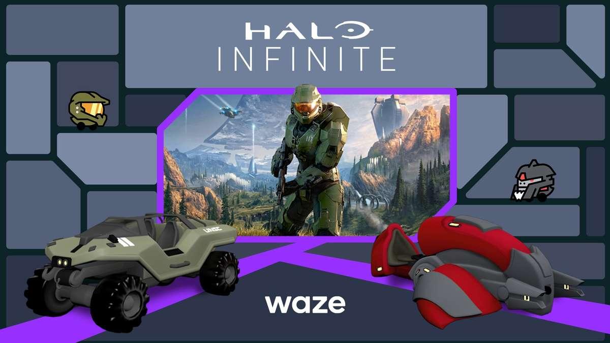 Waze Halo Infinite © Microsoft / Waze