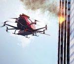 EHang fait une démonstration taille réelle du EH216F, un drone conçu pour combattre les incendies