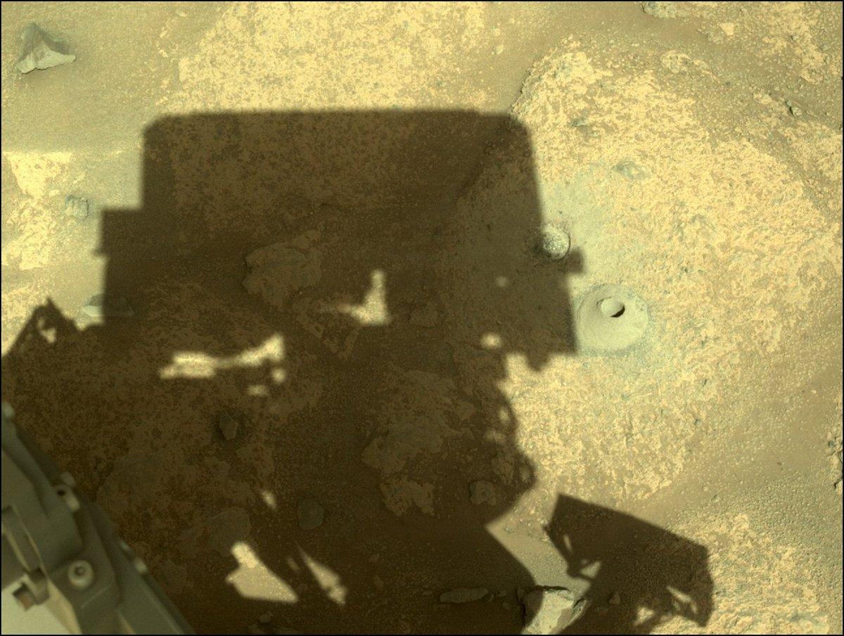 Prseverance drill forage © NASA