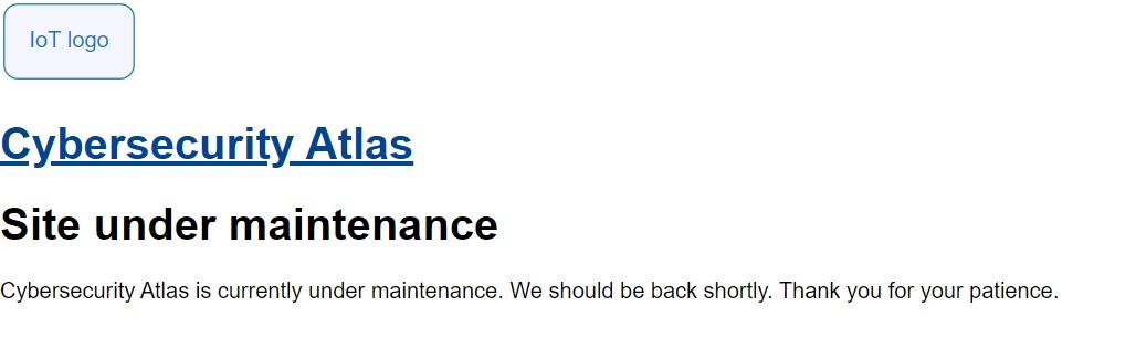 Site-under-maintenance-Cybersecurity-Atlas