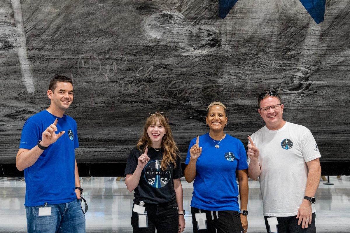 Inspiration4 équipage suie Falcon 9 © Inspiration4