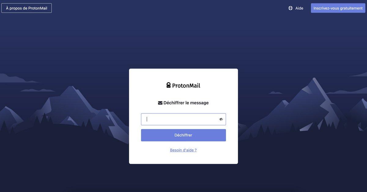 ProtonMail chiffrement