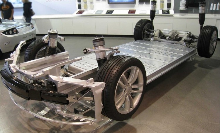 Battery Pack Tesla Model S © ExtremeTech
