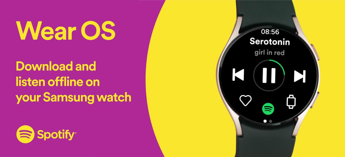Spotify sur Wear OS © Spotify