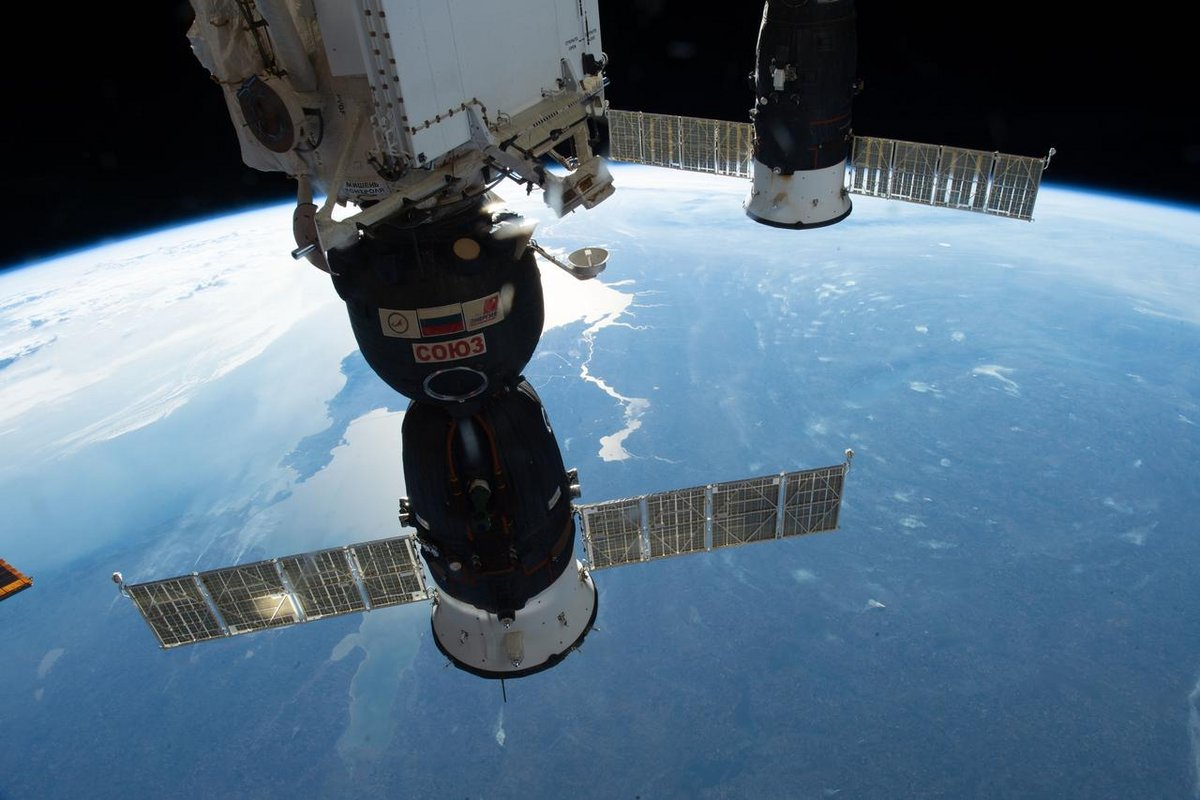 Soyouz MS-09 sur l'ISS © NASA