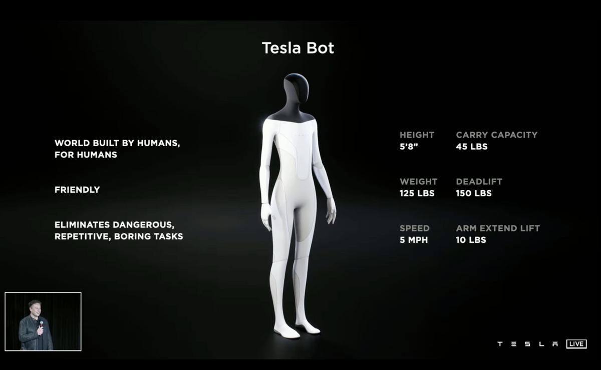 Tesla Bot caractéristiques © © Tesla
