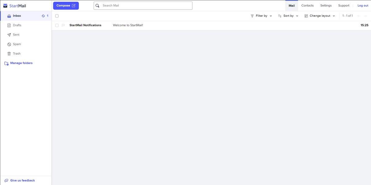 StartMail boite de réception