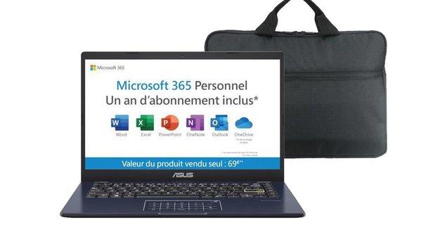 Equipez-vous pour la rentrée avec ce PC Portable Asus avec Office 365 et une sacoche à prix choc