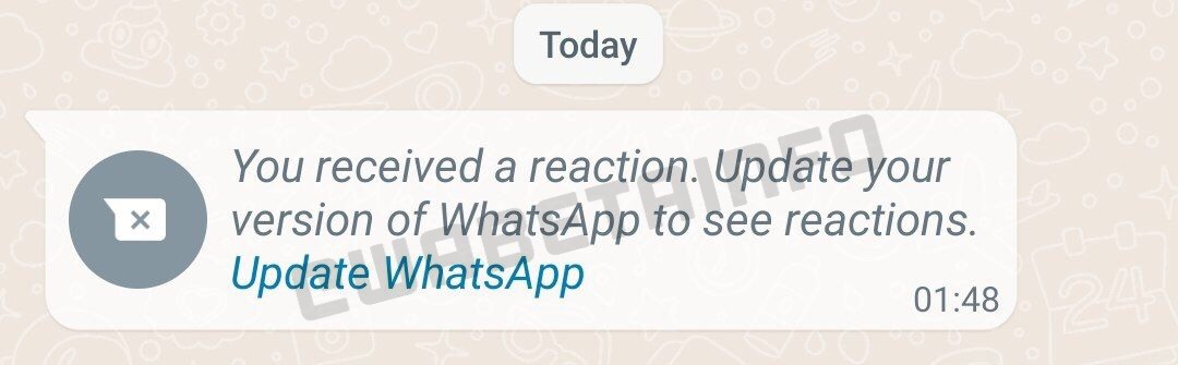 WhatsApp réaction © Wabetainfo
