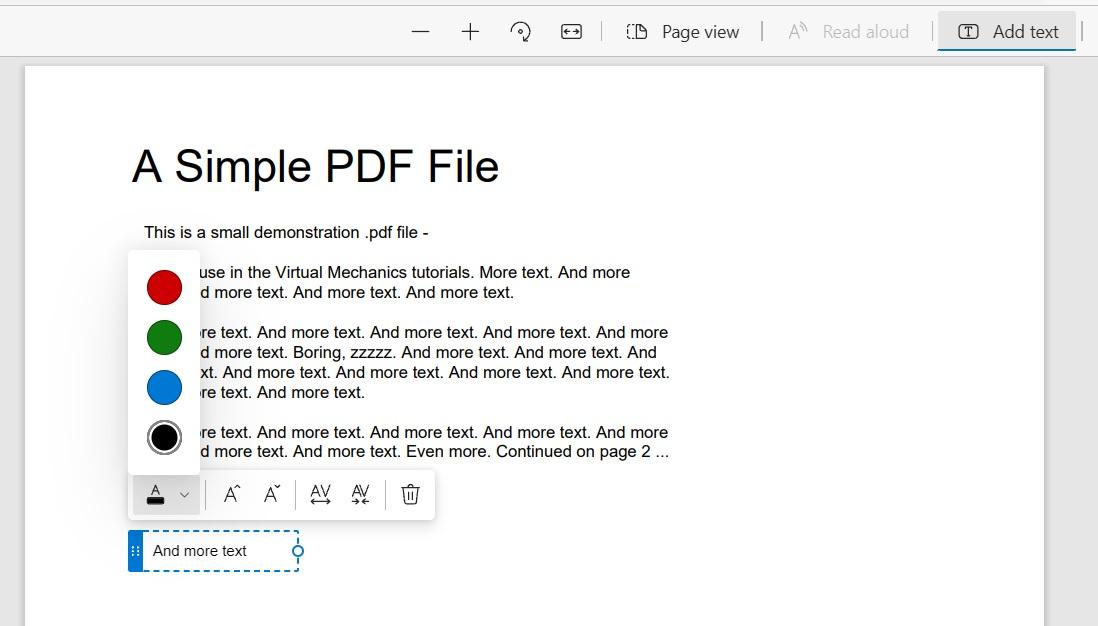 Microsoft Edge édition PDF © Windows Latest