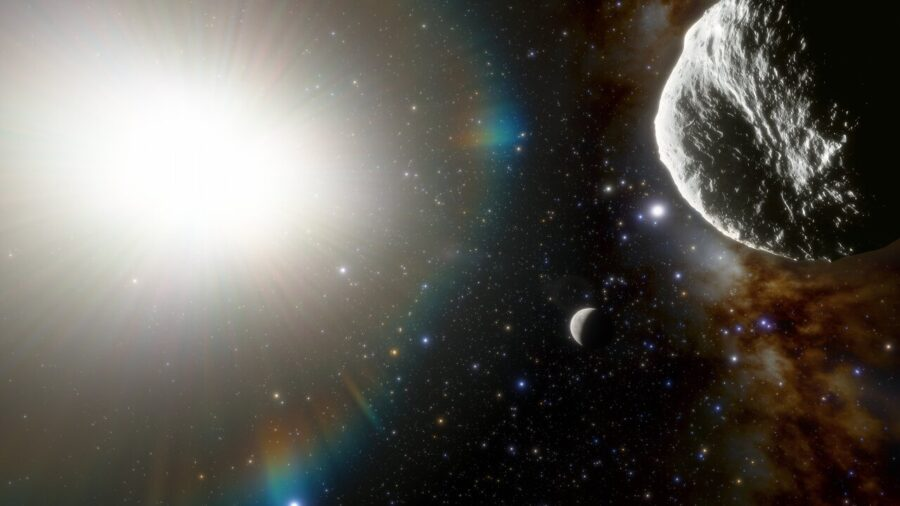 Vue d'artiste astéroïde © CTIO / NSF / NOIRLab / Aura / J. da Silva