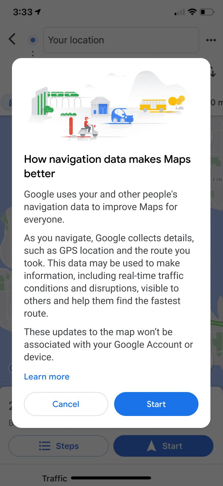 google maps sans géoloc © © Maps