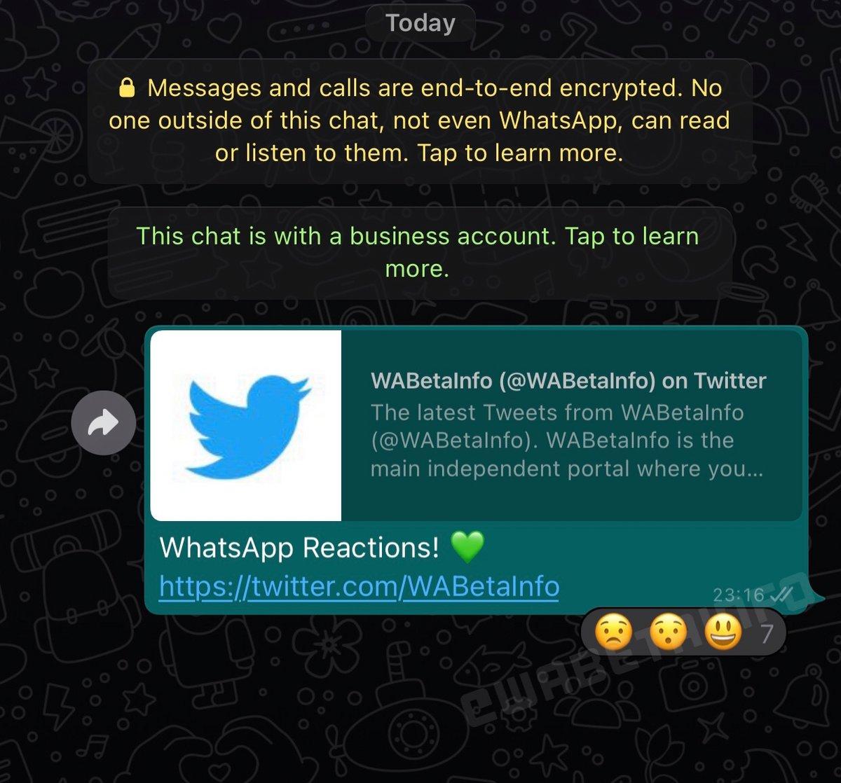 WhatsApp réaction messages © ©WABetaInfo