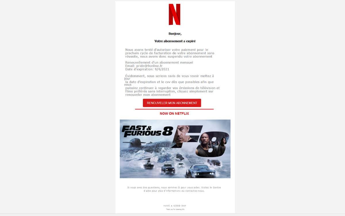 Mail Netflix © Phonandroid