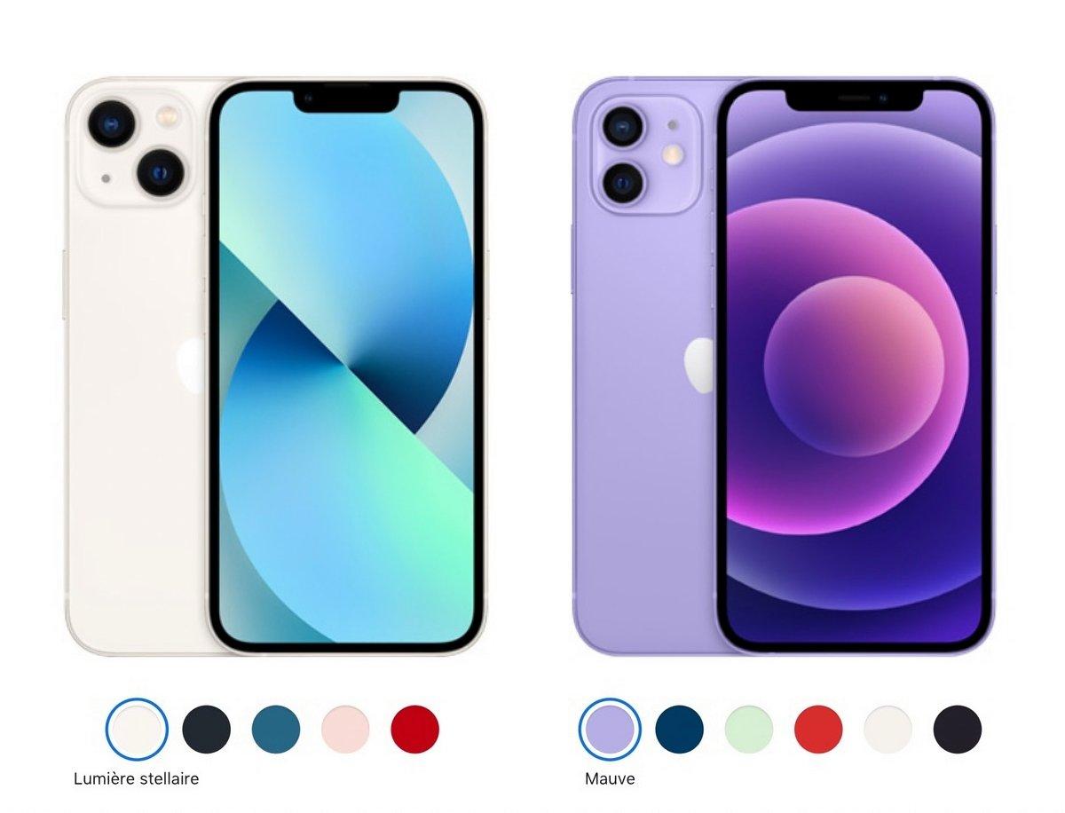 iPhone 12 vs iPhone 13 © Capture d'écran