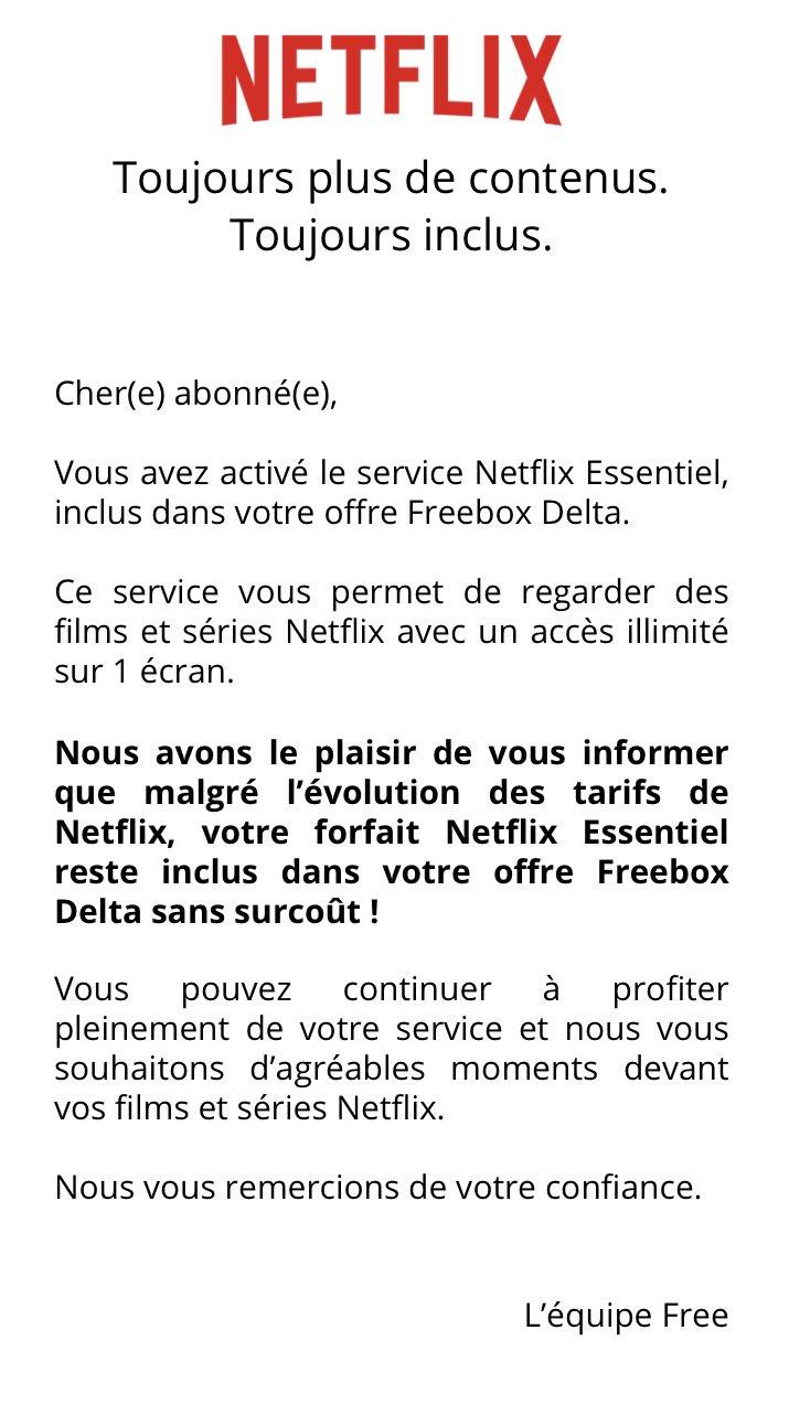 Netflix Essentiel Free © Twitter