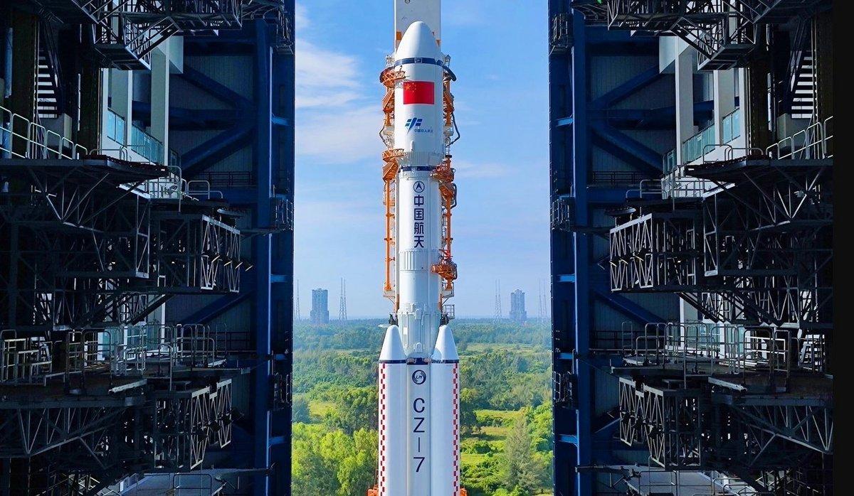 Tianzhou-3 avant décollage CZ-7 © CNSA