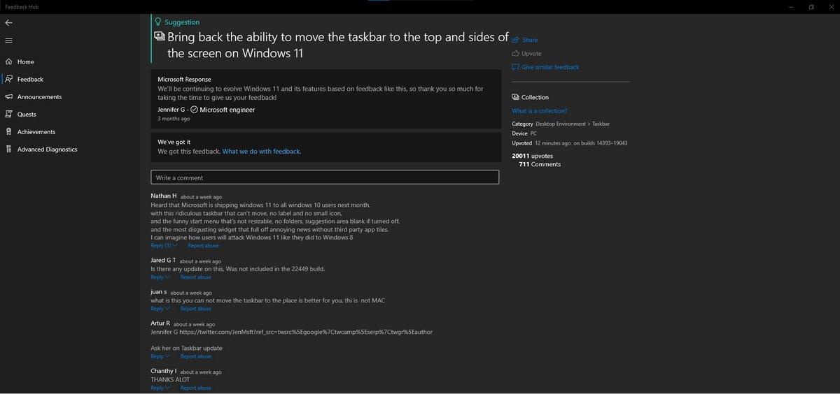 Feedback Hub Windows 11 © Neowin