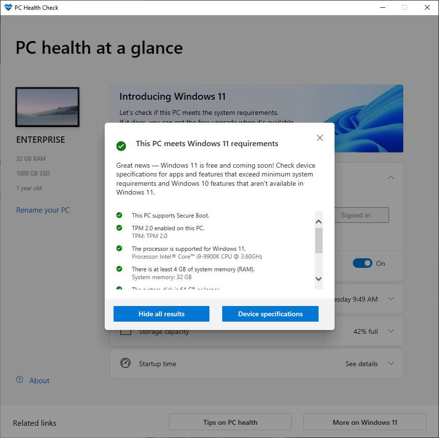Windows 11 PC Health Check © Neowin