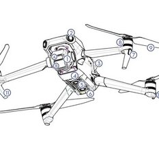 Le design Mavic 3 Pro de DJI fuite : deux caméras et 46 minutes en vol