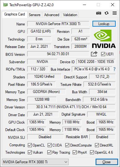 GPU-Z 2.42.0 © Nerces