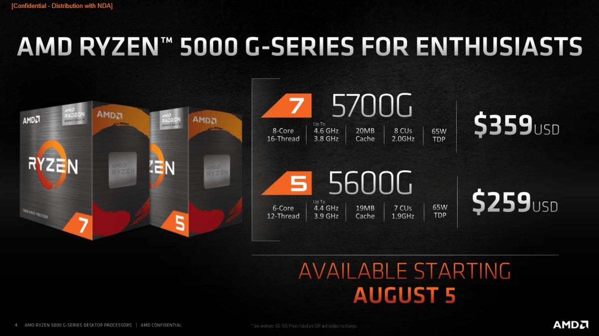 AMD Ryzen 7 5700G © AMD
