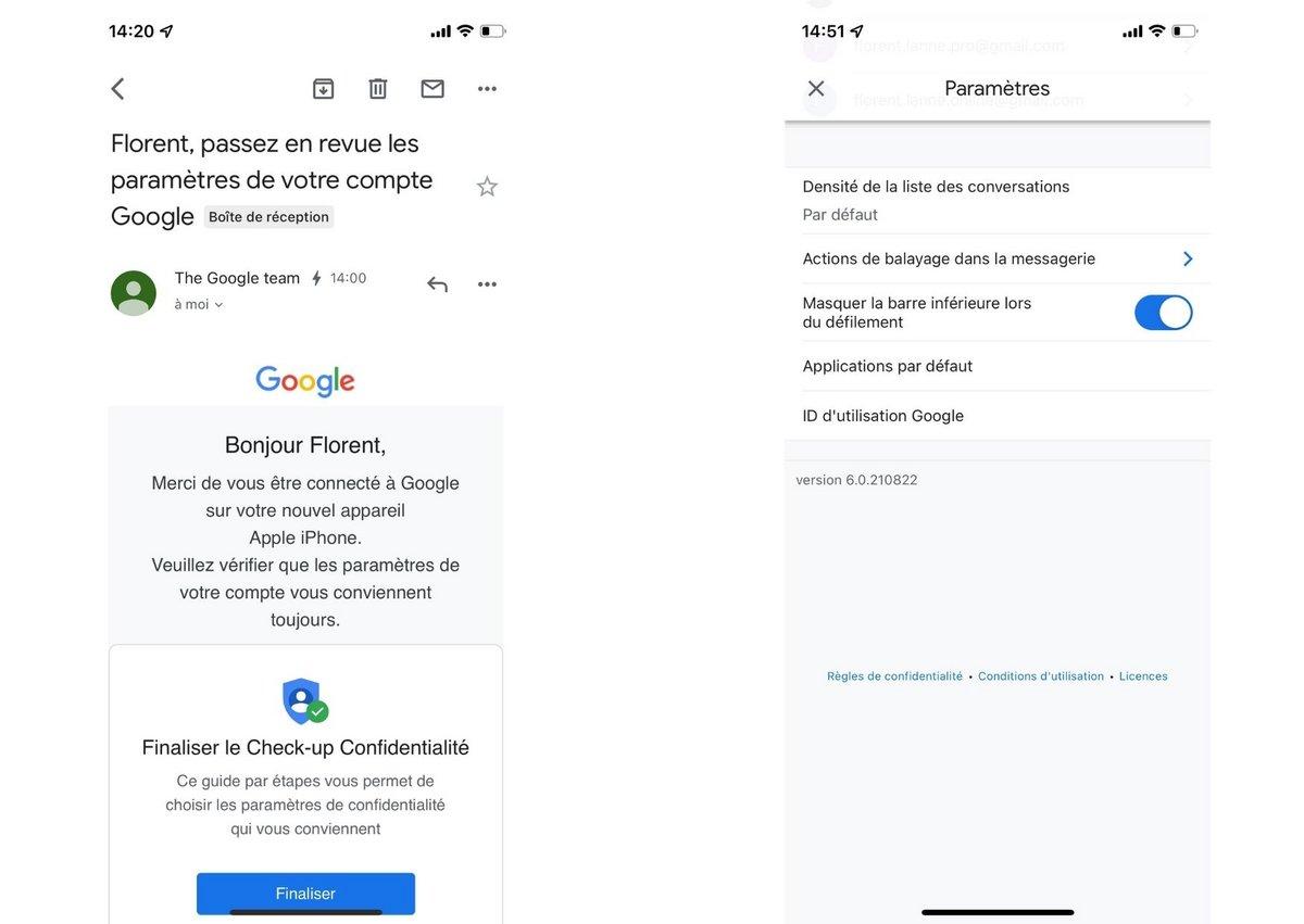 Gmail iOS screen 3
