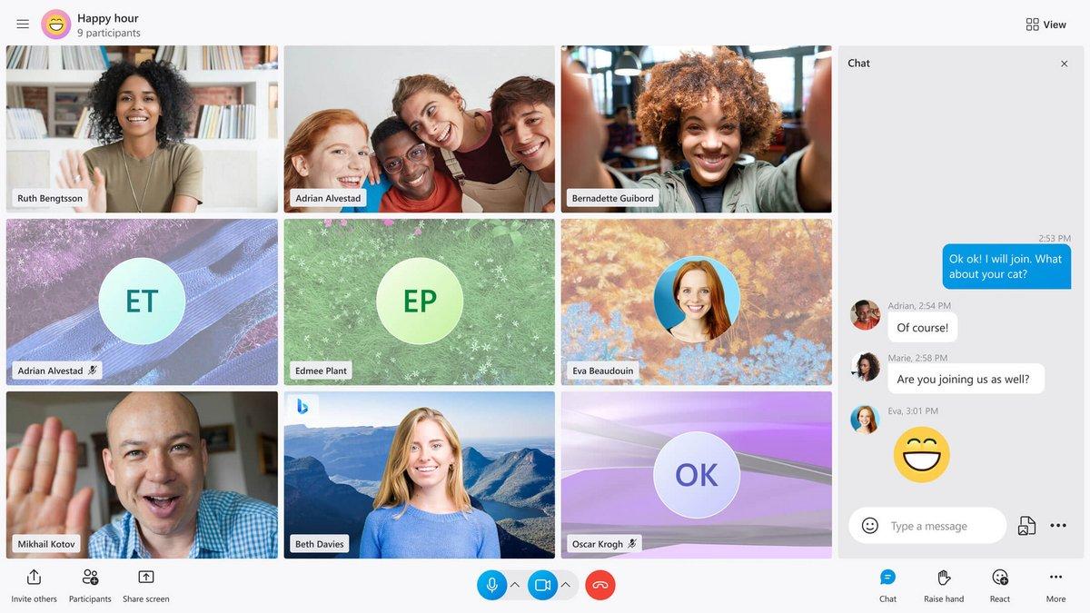 Nouveau design Skype © Skype